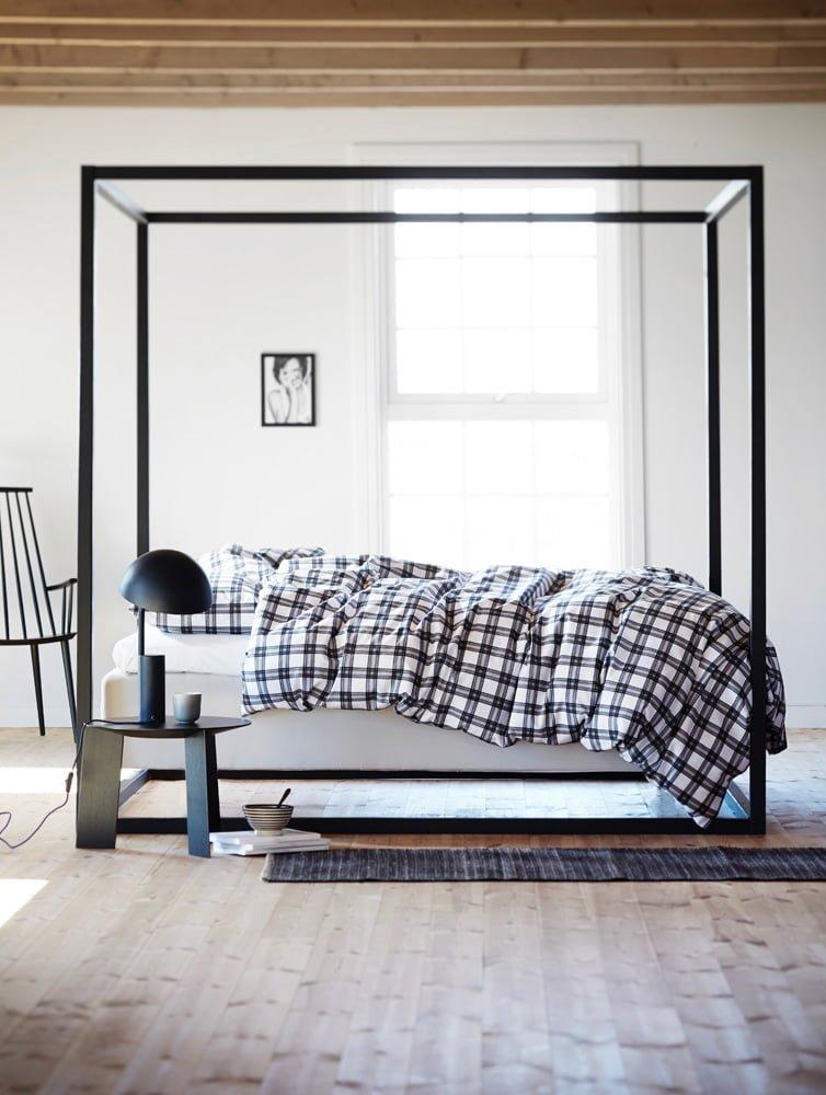 Fotoopptak på Høyloftet seng med ramme