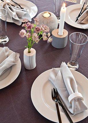 Dekket bord hos Krosser Høyloftet konferansegård